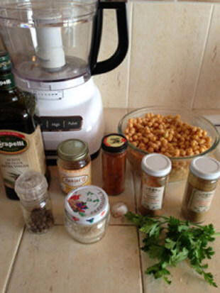 receta hummus de garbanzo