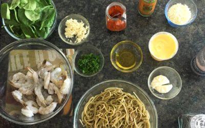 Pasta con camarones – ¡Un platillo para chuparse los dedos!
